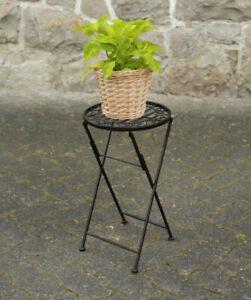Metall Beistelltisch rund - 51x30 cm - klappbar Pflanzenhocker Blumentopfständer