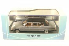 1 43 Neo Peugeot 604 Saloon Heuliez 1978 Silver/flatblack