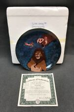 "DISNEY Collector Plate THE LION KING ""Stargazing"" 1996 11th Issue COA 10589A"