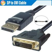 Hot! 1.8M Gold Plated DisplayPort DP to DVI Male to Male Adapter Converter Cable