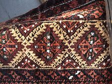 ANTIQUE 1900  BALUCH   GRAIN BAG GREAT COLOR     WITH  KELIM  BACK ORIGINAL