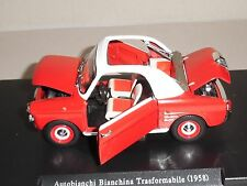 Leo Models. FW03 AUTOBIANNCHI BIANCHINA TRASFORMABILE 1958 IN RED .SCALE 1/24