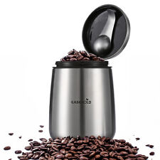 USA Stock Stainless Steel Sealed Airtight Canister Coffee Bean Tea Jars +Spoon