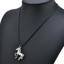Charm Women Men Jewelry Cool Horse Pendant Necklace Steampunk Long Chain Gifts