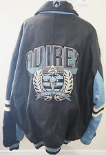 Vintage AVIREX NEW YORK Black Leather Bomber Jacket Coat - 6XL