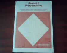 Personal Programming - TI-58C 58C/59 Owner`s manual handheld Texas Instruments