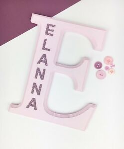 Large Personalised Name Plaque Nursery Bedroom Sign Baby Girl Gift Christening