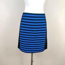Ann Taylor SIze 8 Petite Blue Black Stripe Straight Skirt