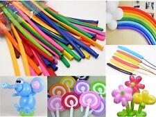 50Pcs Mixed Color Magic Long Animal Tying Balloons Twist Latex Balloon Free Pump