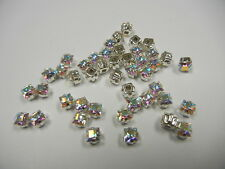 36 swarovski xilion square baby 4-hole sew ons,4mm crystal AB #4428