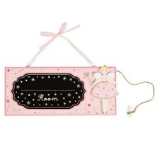 Fairy Girls Pink Wooden Chalkboard Hanging Bedroom Name Door Sign Sass & Belle