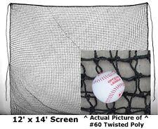 Baffle Net 12' x 14' #84 Twine XHeavy Duty Baseball Softball Batting Cage Screen