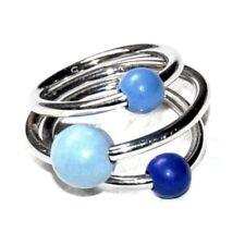 SWATCH Bague originale acier et perle bleu T 52 bijou ring