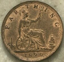 1890 Great Britain Farthing - Red Brown