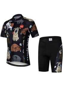 Boys Cycling Jersey Set with 3D Padded Shorts Bike Top Youth Size M 10 / 12