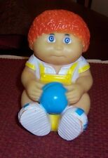 CABBABGE PATCH RED HAIRED BOY DOLL BANK VINYL 1983  BANK APPALACHIAN ARTWORKS