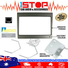 HOLDEN COMMODORE VY-VZ GREY DOUBLE-DIN FACIA FASCIA KIT + RADIO REMOVAL TOOLS