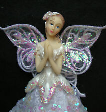 White Angel Fairy Christmas Tree Top Topper Decoration Vintage Style