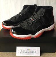 NIKE JORDAN 11 BRED Black RED 6 7 8 9 10 11 12 13 +Receipt 378037-010 OG 2012