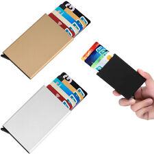 Men Women Aluminum RFID Blocking Credit Card Case Holder Wallet with Pop-up