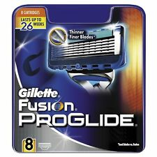 GILLETTE FUSION PROGLIDE BLADES X 8 (100% GENUINE UK)
