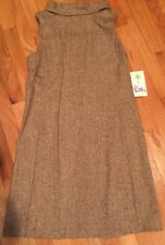 NWT Lilly Pulitzer Womens Portia Dress Chocolate Brown Pepper Tweed Suiting 8