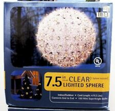 "Christmas Lights SUPER SPHERE  7.5""  Clear/White 100 Lights Christmas Decoration"