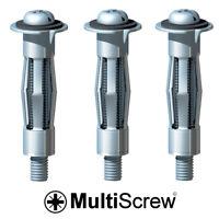 10 x HEAVY DUTY HOLLOW WALL ANCHORS Metal Cavity Plasterboard Plug Fixing Screw