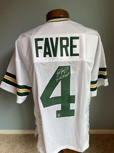 Brett Favre Signed Packers Custom Away Jersey Official Favre COA MVP Inscription