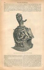 Venise Casque Vénitien de Parement Casque de Combat Seizième Siècle GRAVURE 1869