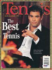 Pete Sampras Signed Dec 1997 Tennis Magazine Autograph Auto PSA/DNA AE65805