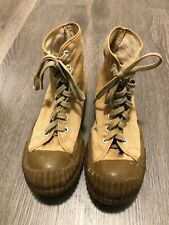 Vintage 1950s Original Converse Blue Label Bosey boots. size 9 Us Army.