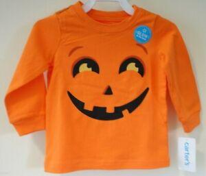 NWT Carter's Jack O'Lantern Halloween Shirt Boy's Size 3 Month