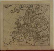 EUROPEAN CONTINENT 1790ca ANONYMOUS ANTIQUE ORIGINAL COPPER ENGRAVED MAP