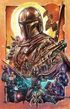 "008 Mandalorian - Season 1 Fight Space War Hot TV Show 14""x21"" Poster"