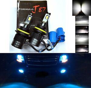 LED Kit G8 100W 9007 HB5 10000K Blue Two Bulbs Head Light High Low Plug Play JDM