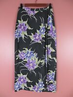 SK11827- TOMMY BAHAMA Womens 100% Silk Wrap Long Skirt Multi-Color Floral Sz 8