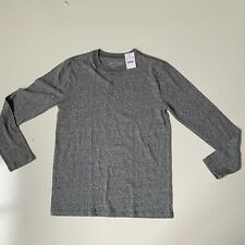 Boys NWT Crew Cuts long sleeve grey henly shirt size 14