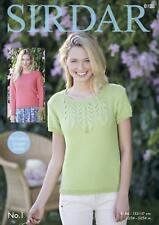 Sirdar 8128 Knitting Pattern Womens Long & Short Sleeved Tops in Sirdar No. 1 DK