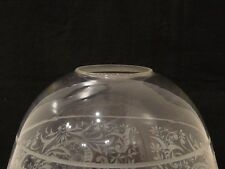"ANTIQUE VINTAGE ETCHED CLEAR GLASS LAMP LIGHT FIXTURE SHADE GLOBE 1.75"" FITTER"