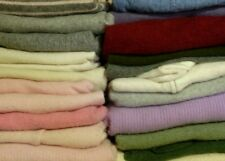 100% Cashmere Sweater Craft Cutter Lot of 24 Multi-color FELTED Wool Fabric