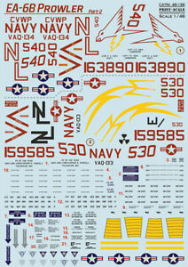 Print Scale 48-196 - 1/48 - EA-6 Prowler Part 2 scale decal plastic model kit UK