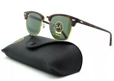 Ray Ban RB3016 Clubmaster Unisex Sunglasses Tortoise Arista Frame/Crystal Green