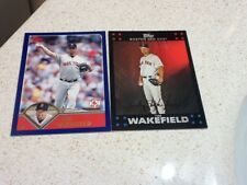 2 great TIM WAKEFIELD cards-BOSTON RED SOX---see scan