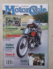 Classic Motor Cycle CMC : October 92 :Commando Fastback :Fanny-B Plover :Manxman