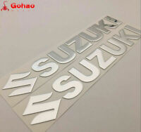 25cm Silver Gas Tank Fairing Decal for Suzuki GSXR HAYABUSA GSX GSR Racing Bikes