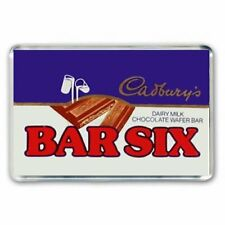 RETRO CADBURY'S BAR SIX CHOCOLATE BAR WRAPPER-JUMBO COLOUR Fridge Magnet