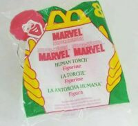McDonald's Happy Meal Toy 1996 Marvel Super Heroes #8 Human Torch Figurine 4""