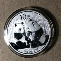 2009 China Panda Silver 10 Yuan 1 Oz Coin BU Condition