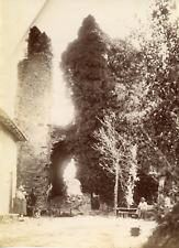 France, château à identifier, vue générale de l'entrée  Vintage albumen pri